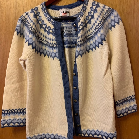 Vintage Scandia Handmade Wool Buttonup Sweater